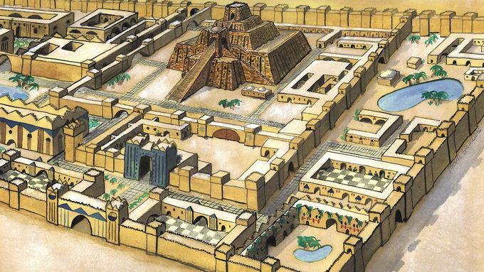 La citadelle de la cité d'Ur
